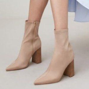JEFFREY CAMPBELL Tan Coma Siren Sock Booties 6.5